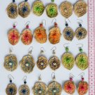 5 Pairs Earrings Hand Woven Thread Brasilian Seeds Art