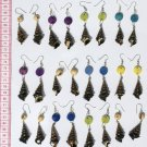 5 Pairs Sea Shell Earrings Ethnic Fashion Jewelry Peru