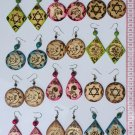 6 Pairs Wood Wooden Earrings Ethnic Drawings Latin Art