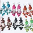 5 Pairs Color Tagua / Seed Pearls Earrings Jewelry Peru