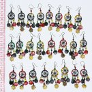 8 Pairs Thread Earrings Handcrafted Costume Jewelry Art