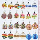 10 Pairs Hand Painted Images Earrings Artisan Jewelry