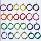 8 Pairs Round Color Earrings Jewelry Wholesale Supplies