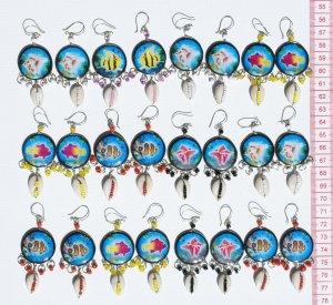 8 Pairs Shell Earrings Jewelry Wholesalers Handwork Art