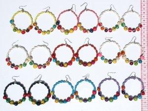 7 Pairs Seed Bead Pearls Earrings Jewelry Art Wholesale