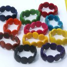 LOT 7 COLOR BRACELETS MADE OF TAGUA, ECUADOR