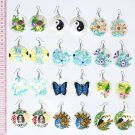 6 Pairs Hand Painted Earrings Peruvian Painting Drawing