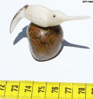 Hand Carving Collection Bird Tagua Nut Figurine Colibri
