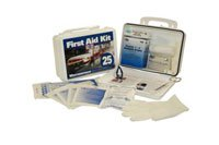First Aid Kit 25 Person Steel Non-Gasket Ea
