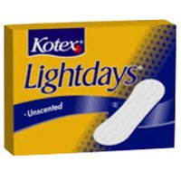 Kotex Lightday Liner Unscented Regular 22/Bx, 18 BX/CA