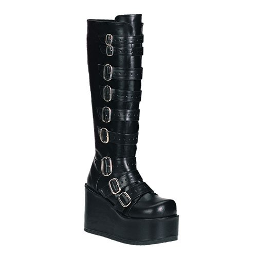 Concord 108 Knee Boots by Demonia