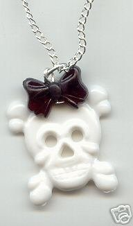 White Skull Bow Necklace £5.00/$10.00