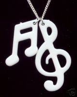 White Musical Notes Necklace £5.50/$11.00
