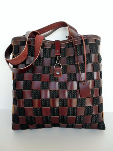 Brown tote, Brown Leather Tote, Market bag, Leather tote,Basket Leather bag, Messanger Leather
