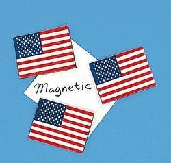 USA Flag Magnet 1 dozen w/ FREE Shipping in US