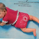 2 Baby Outfits/Bootie and Blanket Crochet Snipped Patterns
