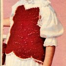 Girls Top and Cap Snipped Crochet Pattern