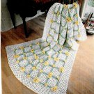Buttercup Afghan Crochet Snipped Pattern