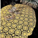 Yellow Crochet Tablecloth Snipped Pattern
