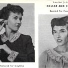 2 Sets of Collar and Cuff Crochet Patterns