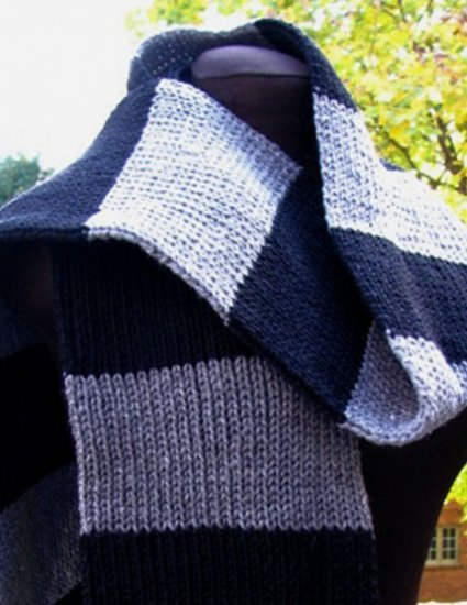 The BIG Black and Grey Scarf - 80 x 7 inches