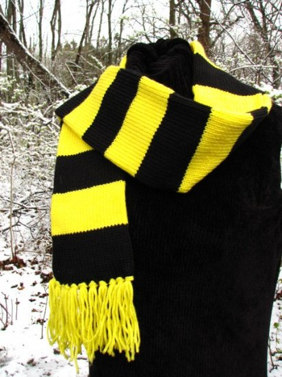 Custom Knit Scarf - You choose two Sports Team or School Colors - Regular size, 5 x 70""