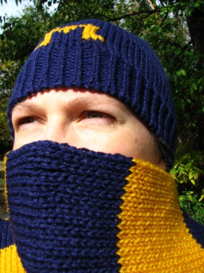 Custom Knit Striped Hat and Scarf-Hand Crafted in your choice of colors-Ships in 10 days