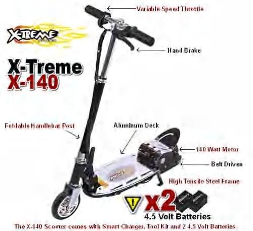 Xtreme X-140 Electric batterys 2