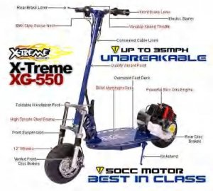 X-Treme XG-550 Gas Scooter Model