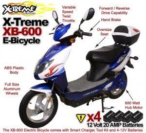 X-Treme XB-600 Elite Electric Bicycle