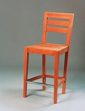 Bar Chair-Horizontal Slats Teak