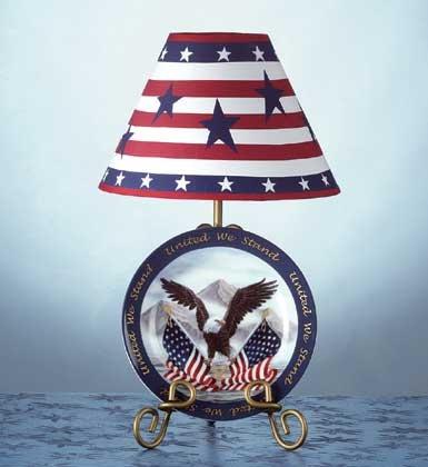 Set Eagle Plate and Lamp