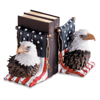 Bookends Eagle on Flag