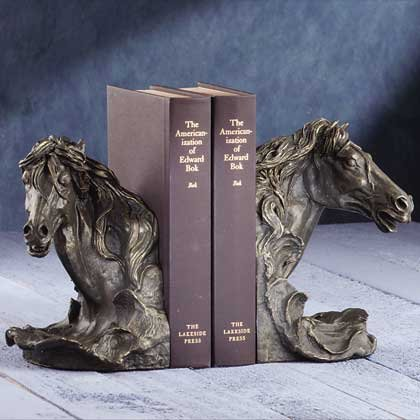Horses Head Bookends