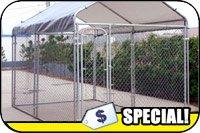 Dog Kennel W-Canopy