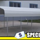 Steel Carport 7ft W