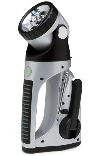 crank power led flashlight