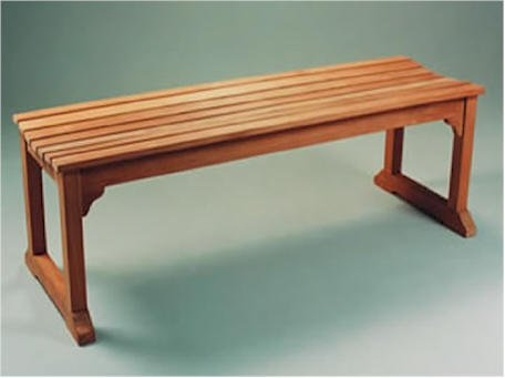 Backless Bench With Boot Legs