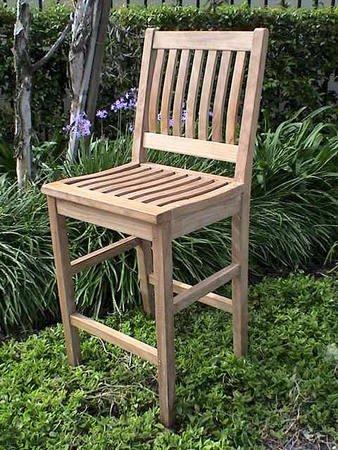 29in H Bar Chair Teak