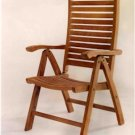 Teak Carina 5-Position Highback Recliner