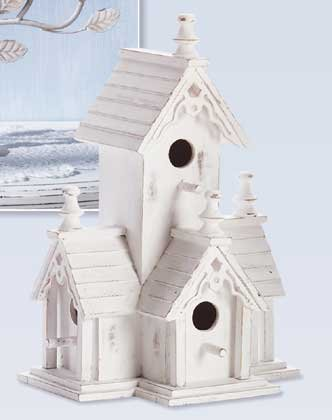 Distressed Victorian Bird House