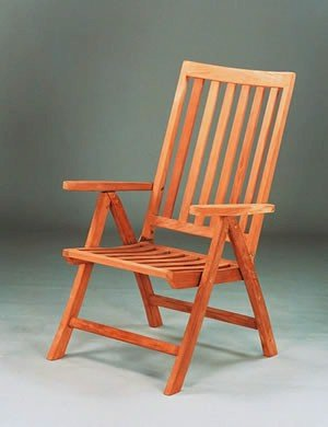 Imperial 5-Position Recliner Folding Chair Teak