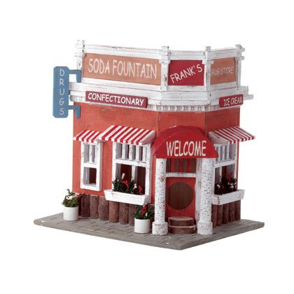 Old-Time Drugstore-Themed Birdhouse