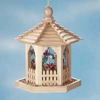 Bird Feeder Stained Glass Gazebo