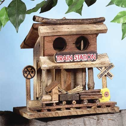 Train Station Bird House