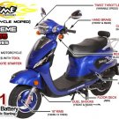 X-Treme XM-155 Italian Style Gas Scooter Moped 150cc