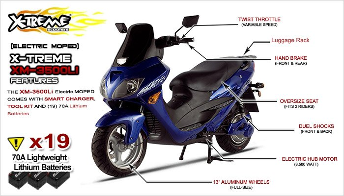 X-Treme 3500Li E-Moped