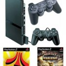 Slim Playstation 2 Value Bundle - 86 Games 2 Controllers