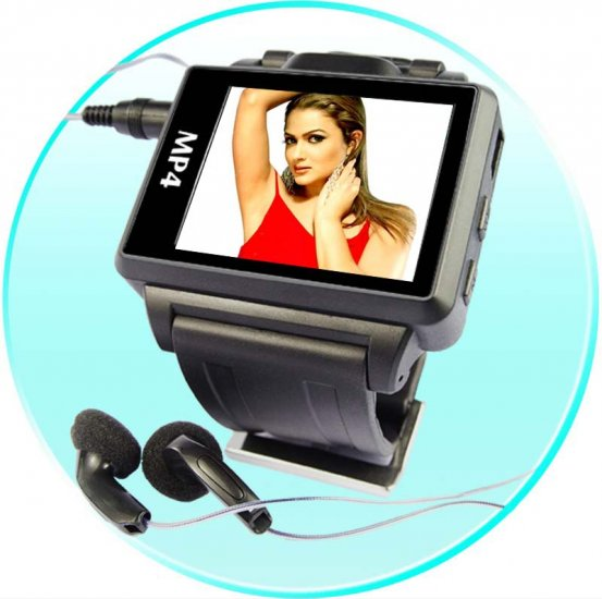 Widescreen MP4 Player Watch -1.8 Inch Display - 2GB