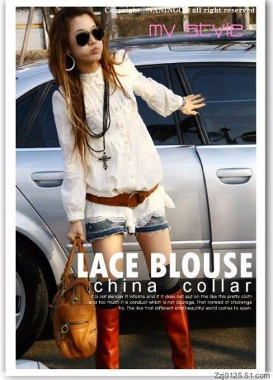 New Imported Lace Long Blouse